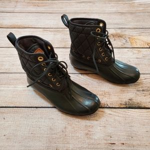 Sperry Topsider Black Diamond Quilted Duck Boots